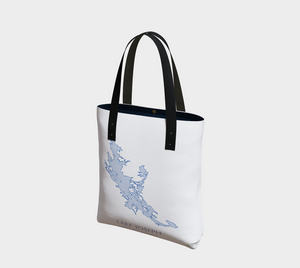 Tote Bag with Art Map of Lake Joseph, Muskoka