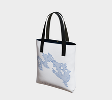 Load image into Gallery viewer, Tote Bag with Art Map of Lake Muskoka