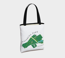 Load image into Gallery viewer, Tote Bag with Art Map of Waterloo Park, Waterloo