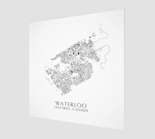 Poster Print of Waterloo Buildings