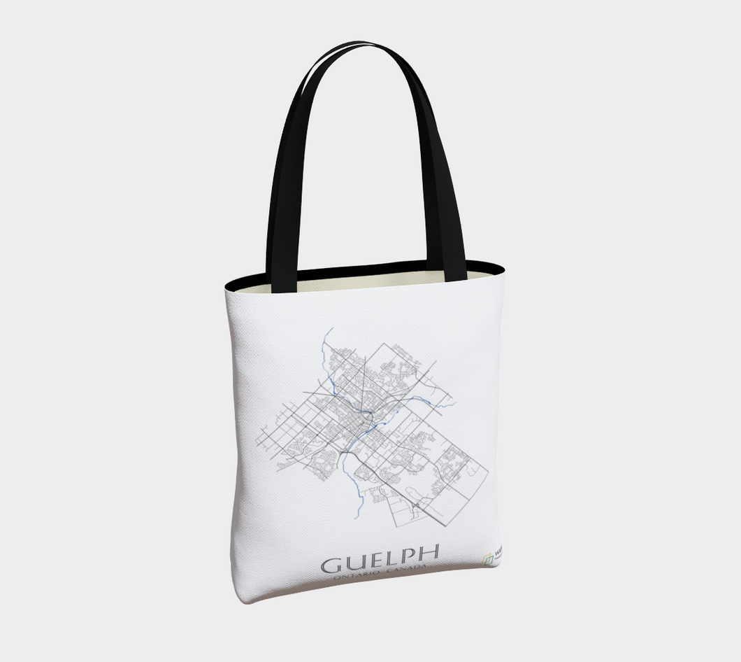 Tote Bag with Art Map of Guelph Streets