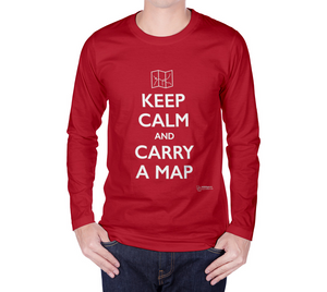 Keep Calm and Carry a Map - Long Sleeve T-Shirt