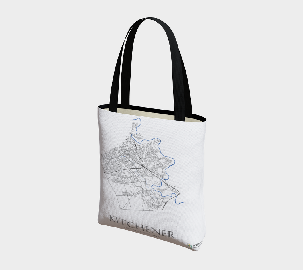 Tote Bag with Art Map of Kitchener Streets