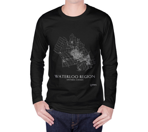 Long Sleeve T-Shirt with Map of Waterloo Region