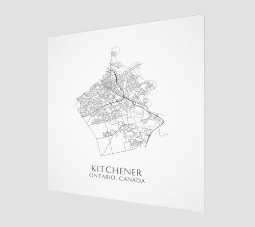 Poster Print of Kitchener Streets