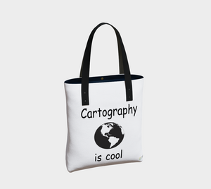 """Cartography is Cool"" Tote Bag"