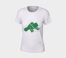 Load image into Gallery viewer, Fitted T-shirt with Map of Waterloo Park