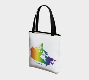Tote Bag with Rainbow Map of Canada