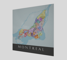 Load image into Gallery viewer, Art Map of Montreal