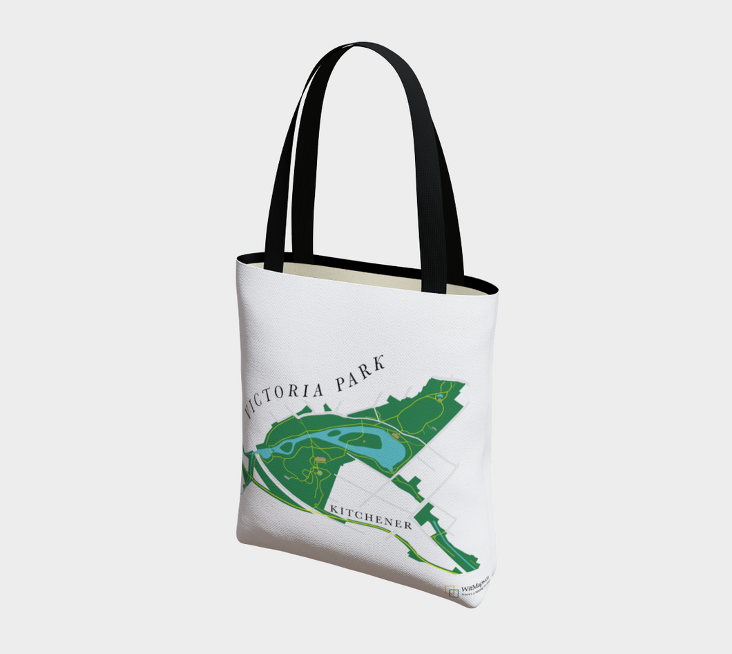 Tote Bag with Art Map of Victoria Park, Kitchener