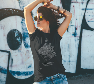 Unisex Tee with Map of Kitchener