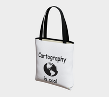 "Load image into Gallery viewer, ""Cartography is Cool"" Tote Bag"