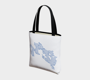 Tote Bag with Art Map of Lake Muskoka
