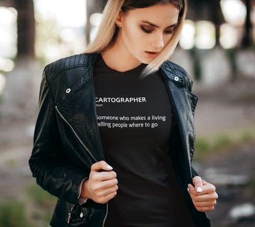 Women's Tee with Definition of Cartographer