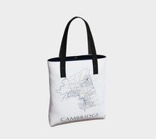 Load image into Gallery viewer, Tote Bag with Art Map of Cambridge Streets
