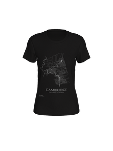 Women's Tee with Map of Cambridge