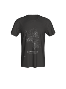 Classic T-shirt with Map of Cambridge