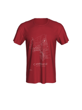 Load image into Gallery viewer, Unisex Tee with Map of Cambridge