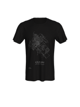 Load image into Gallery viewer, Unisex Tee with Map of Guelph Streets