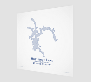 light blue Horseshoe Lake, Parry Sound, fine art matte print - square