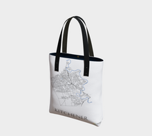 Load image into Gallery viewer, Tote Bag with Art Map of Kitchener Streets