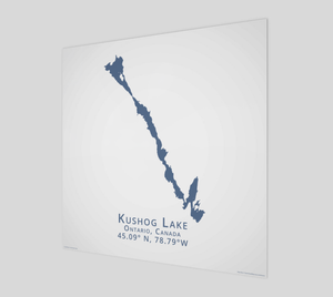 Art Map of Kushog Lake