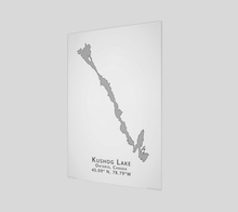 Load image into Gallery viewer, Art Map of Kushog Lake