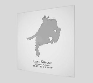 Art Map of Lake Simcoe
