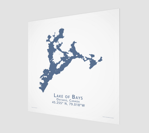 Art Map of Lake of Bays