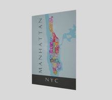 Load image into Gallery viewer, Art Map of Manhattan