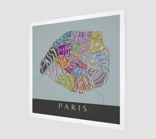 Load image into Gallery viewer, Art Map of Paris