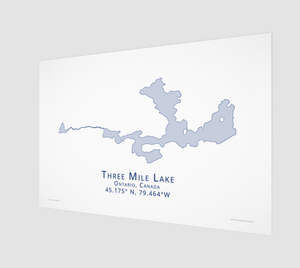light blue Three Mile Lake in Muskoka, fine art matte print - 3:2 ratio