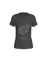 Load image into Gallery viewer, Women's Tee with Map of Waterloo