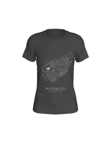 Fitted Tee with Map of Waterloo