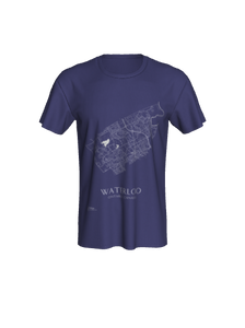 Unisex Tee with Map of Waterloo