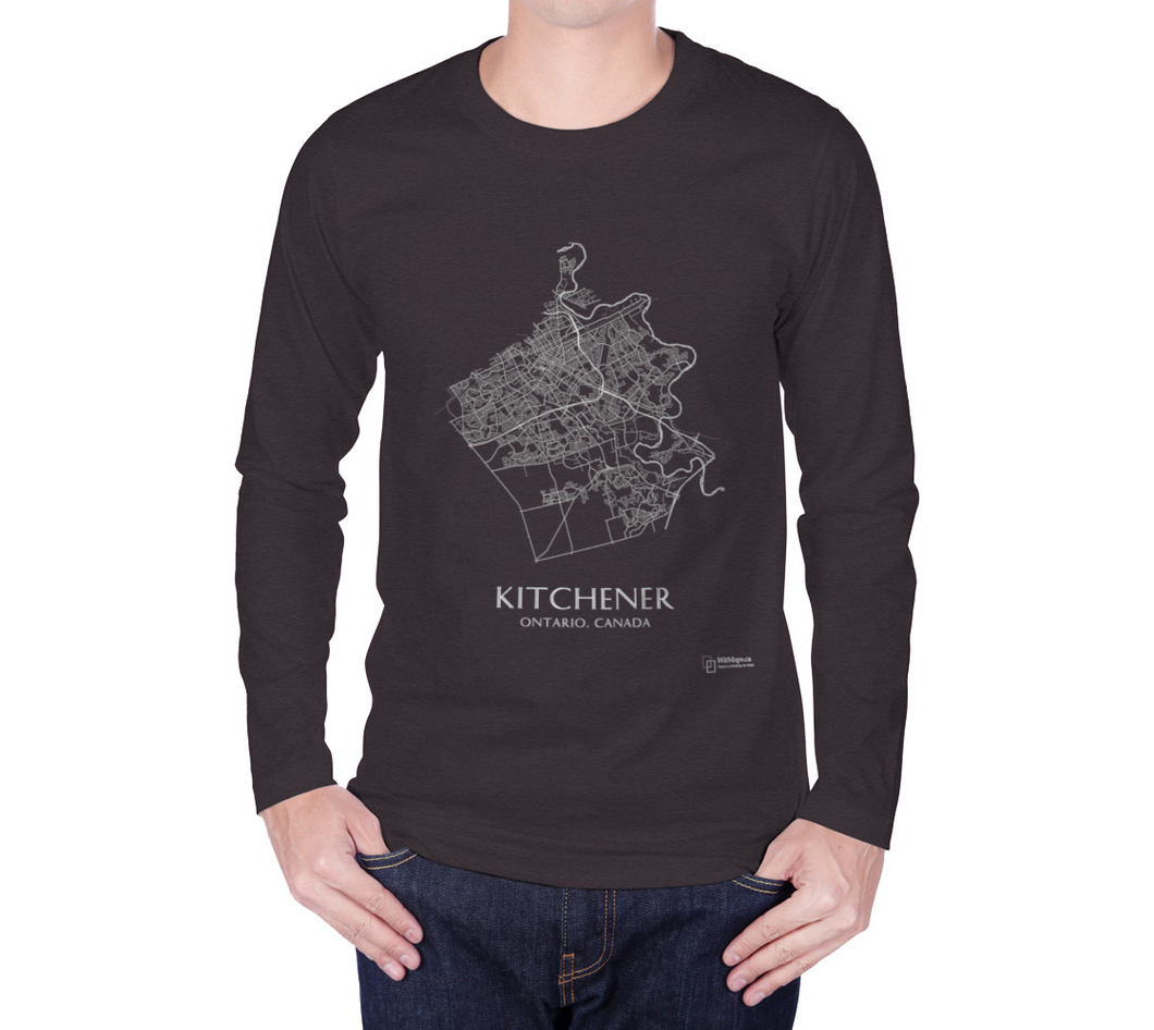 Long Sleeve T-Shirt with Map of Kitchener