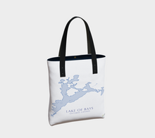 Load image into Gallery viewer, Tote Bag with Art Map of Lake of Bays, Muskoka