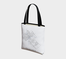 Load image into Gallery viewer, Tote Bag with Art Map of Guelph Streets