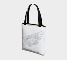 Load image into Gallery viewer, Tote Bag with Art Map of Waterloo Streets