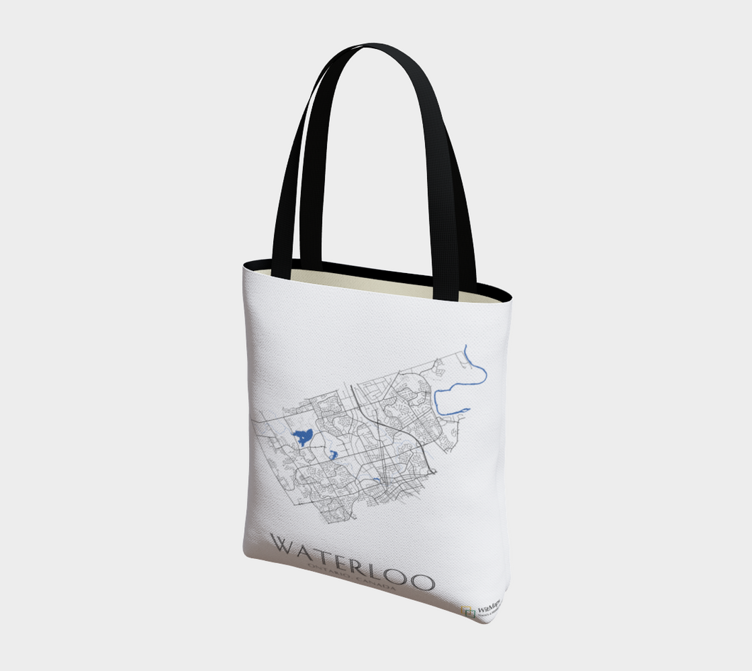 Tote Bag with Art Map of Waterloo Streets