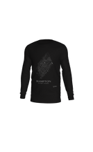 Load image into Gallery viewer, white streets of Brampton, Ontario, on black long sleeve tshirt