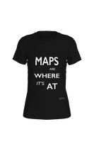 Load image into Gallery viewer, Fitted T-shirt - Maps Are Where It's At