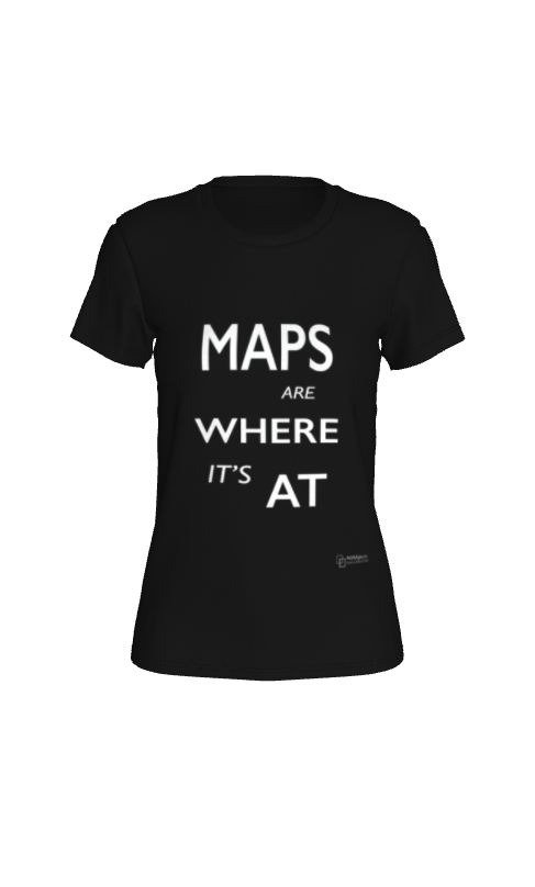 Fitted T-shirt - Maps Are Where It's At