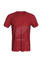 Load image into Gallery viewer, white streets of Toronto, Ontario, on canvas red classic unisex tshirt