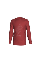 Load image into Gallery viewer, white streets of Brampton, Ontario, on canvas red long sleeve tshirt