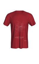 Load image into Gallery viewer, white streets of Stratford, Ontario, on canvas red classic unisex tshirt