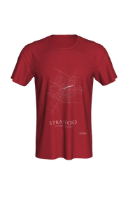 white streets of Stratford, Ontario, on canvas red classic unisex tshirt