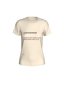 Fitted T-shirt with Definition of Cartographer
