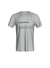 Load image into Gallery viewer, Unisex Tee with Definition of Cartographer