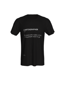 Unisex Tee with Definition of Cartographer